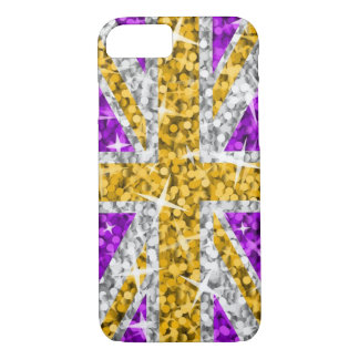 Glitz UK Gold iPhone 7 barely there case