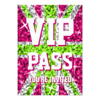 Glitz UK Lime VIP PASS invitation