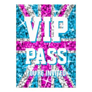 Glitz UK Pink VIP PASS invitation