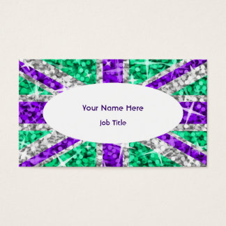 Glitz UK Purple white oval business card