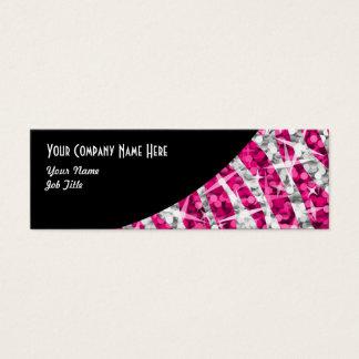 Glitz Zebra Pink Black Curve skinny Mini Business Card