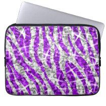"Glitz Zebra Purple 13"" laptop sleeve"
