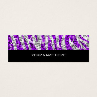 Glitz Zebra Purple business card skinny black