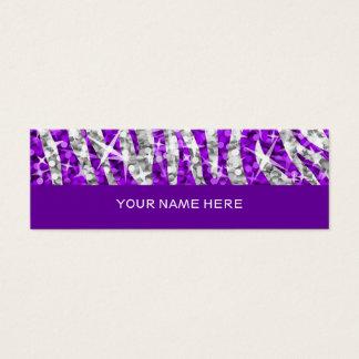 Glitz Zebra Purple business card skinny purple