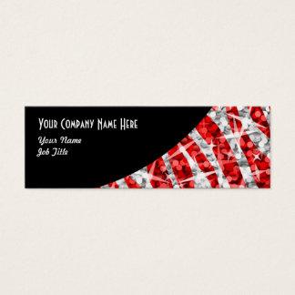 Glitz Zebra Red black curve skinny Mini Business Card
