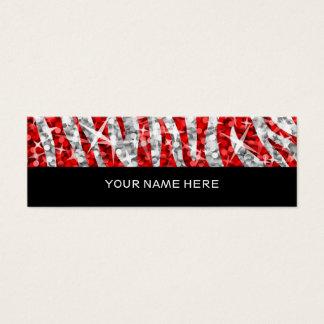 Glitz Zebra Red business card skinny black