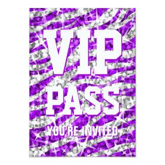 Glitz Zebra 'VIP PASS' invitation