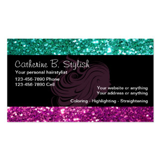 Glitzy Beauty Business Cards