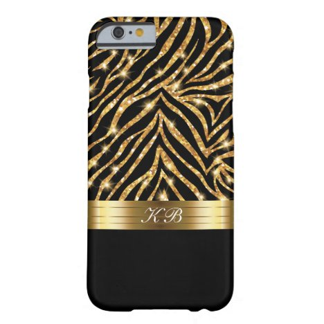 Glitzy Bling Elegant Ladies Gold Glitter Barely There iPhone 6 Case