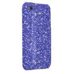Glitzy Blueberry Glitter iPhone 3 Case