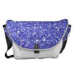 Glitzy Blueberry  Glitter Messenger Bag