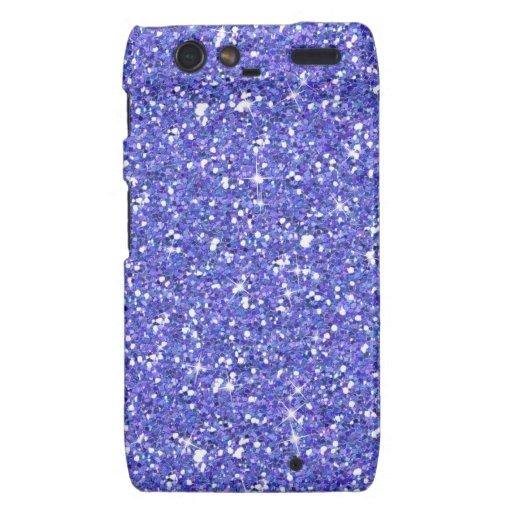 Glitzy Blueberry Glitter Motorola Droid RAZR Cover