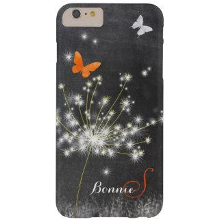 Glitzy Chalkboard Dandelion Barely There iPhone 6 Plus Case
