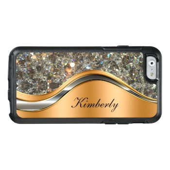 Glitzy Cool Monogram Otterbox Iphone 6/6s Case by idesigncafe at Zazzle