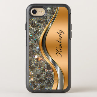 Glitzy Cool Monogram OtterBox Symmetry iPhone 7 Case