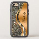 Glitzy Cool Monogram OtterBox Symmetry iPhone 8/7 Case
