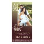 Glitzy Dandelions Wedding Save the Date Photo Card