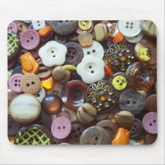 Glitzy Earth Tone Buttons mousepad