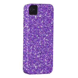 Glitzy Eggplant Glitter iPhone 4 Cover