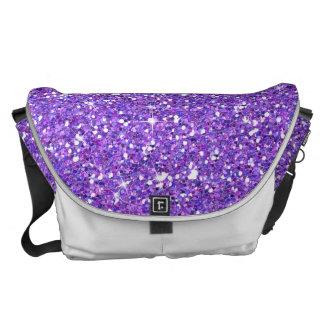Glitzy Eggplant Glitter Messenger Bag
