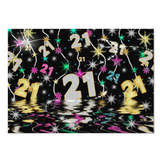 GLITZY EXPLOSIVE 21ST BIRTHDAY PARTY INVITATION