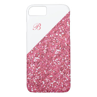 Glitzy Glitter Monogram iPhone 7 Case