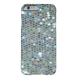 Glitzy Glitter Sparkly Silver Bling Barely There iPhone 6 Case