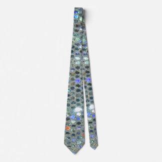 Glitzy Glitter Sparkly Silver Bling Tie