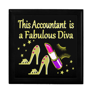 GLITZY GOLD ACCOUNTANT DESIGN GIFT BOX