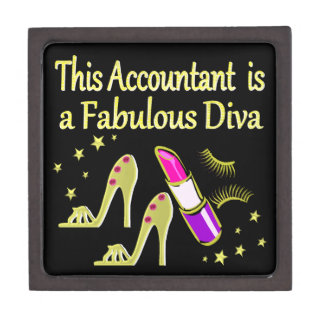 GLITZY GOLD ACCOUNTANT DESIGN KEEPSAKE BOX