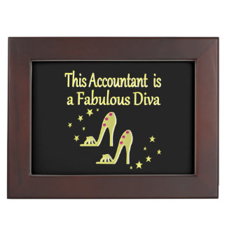 GLITZY GOLD ACCOUNTANT DIVA DESIGN MEMORY BOX
