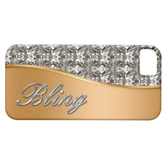 Glitzy Gold Look iPhone 5 Bling Case