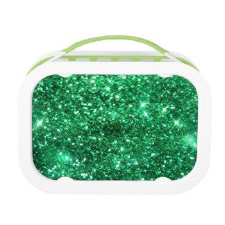 Glitzy Green Glitter Lunch Box