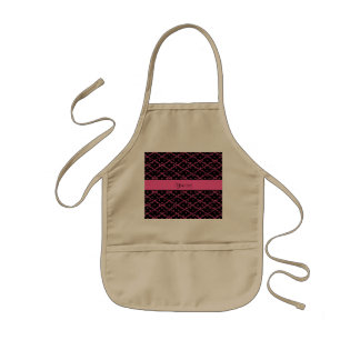 Glitzy Hot Pink Glitter Polka Dots & Diamonds Kids' Apron