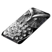 Glitzy Jewelled Metal Owl Case-Mate iPod Touch Case