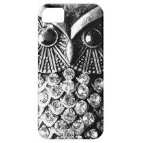Glitzy Jewelled Metal Owl iPhone SE/5/5s Case