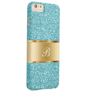 Glitzy Ladies Monogram Barely There iPhone 6 Plus Case