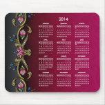 Glitzy Lady 2014 Calendar Mouse Pad