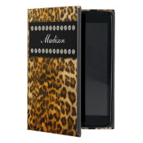 Glitzy Leopard Monogram iPad Mini Cases
