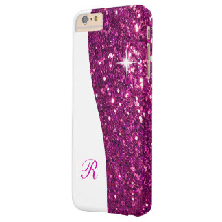Glitzy Monogram Bling Barely There iPhone 6 Plus Case