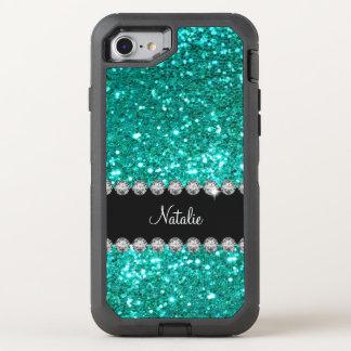 Glitzy Monogram Faux Glitter OtterBox Defender iPhone 7 Case