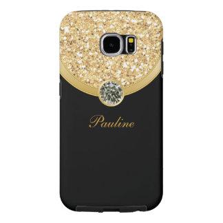 Glitzy Monogram Galaxy S6 Case Samsung Galaxy S6 Cases