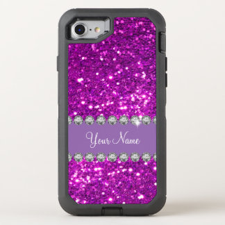Glitzy Monogram Simulated Glitter OtterBox Defender iPhone 7 Case