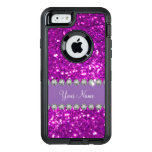 Glitzy Monogram Simulated Glitter OtterBox Defender iPhone Case