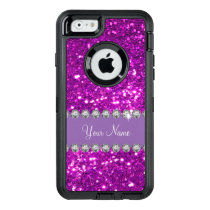 Glitzy Monogram Simulated Glitter OtterBox Defender iPhone Case