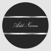 Glitzy Monogram Sticker Labels