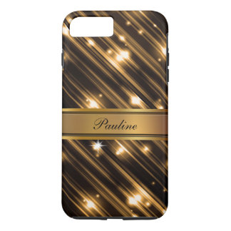 Glitzy Monogram Style iPhone 7 Plus Case