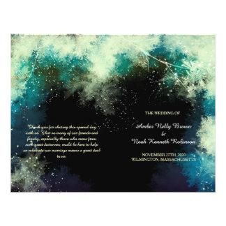 Glitzy Mystic Forest Indie Wedding BiFold Programs Flyer