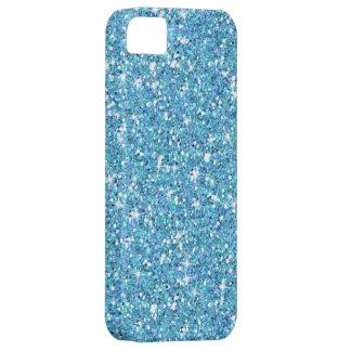 Glitzy Ocean Blue Glitter iPhone 5 Cases