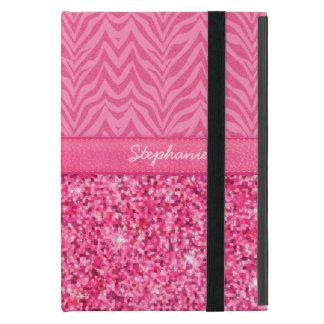 Glitzy Pink Zebra Cover For iPad Mini